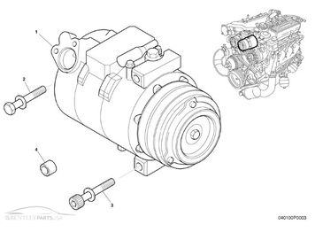 Bentley Arnage AC Compressor PA55633PC